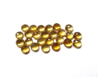 10 Pieces Lot 5mm GOLDEN CITRINE Round Rosecut gemstone