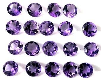 10 piece 5mm amethyst faceted round gemstone, 100% natural 5mm amethyst round faceted loose gemstone, Amethyst Faceted Round Loose Gemstone