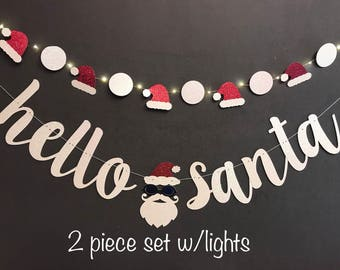 Santa Banner, Ugly sweater party banner,  Custom Banner, Christmas banners, custom banner, holiday banners, holiday Banner,Winter banners