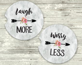 Floral Car Coasters | Cup Holder Coaster | Coasters for Car | Floral Coasters | Coaster Set for Car | Gift for Her | Graduation Gift