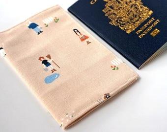 Country FARM Peach Travel Passport Cover, Passport Holder, Passport Case, Passport Protector, Fabric Cover, Passport, Wanderlust