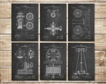 Tesla Art Prints, Patent Print Group, Nikola Tesla, Tesla Art Poster, Nikola Tesla Art, Tesla Patent Print, Tesla Patent, INSTANT DOWNLOAD