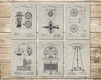 Nikola Tesla, Patent Print Group, Tesla Art Prints, Tesla Art Poster, Nikola Tesla Art, Tesla Patent Print, Tesla Patent, INSTANT DOWNLOAD
