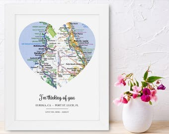 Personalized Mom Gifts for Long Distance Mom and Daughter Gifts for Mom for Christmas Gifts for Mom and Dad Mom from Daughter Birthday Gift
