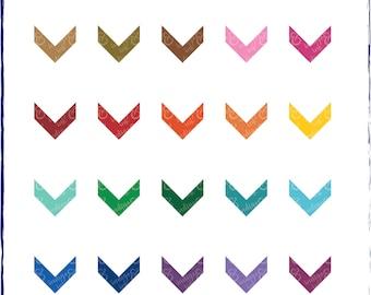 Chevron Arrows Shapes Digital Download Clipart