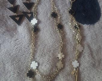 Necklace, earring, and bracelet set