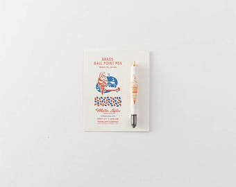 Mister Softee x Traveler's Factory collaboration Brass Ball point Pen 07100613 Limited Log-On Hong Kong TRAVELER'S COMPANY Rare