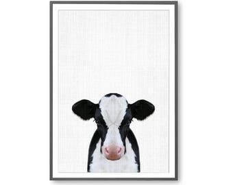 Calf Print, Cow Print, Large Printable Poster, Nursery Animal Art, Animal Poster, Cow wall art, country Wall Art, Nursery Poster, Modern Art