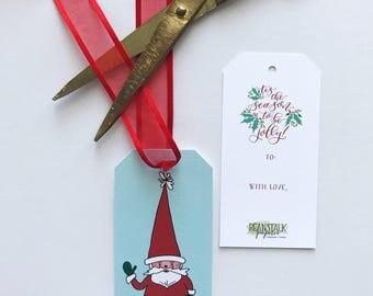 Gnome Santa Gift Tag (Pack of 12)