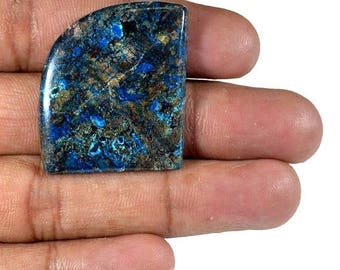 50%SALE Superfine !! Natural Azurite Cabochon irregular 33x29x4 mm 47 Ct. Loose Gemstone Wholesale Cabochon Gemstone For Jewelry