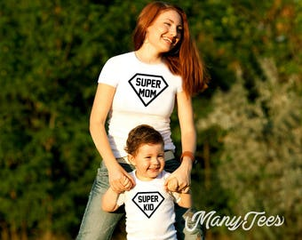 Supermom shirt mother and daughter outfits mother and son matching outfits mom and son shirts mom and daughter shirts mothers day gift shirt