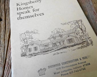 Vintage 1970's House Plan Lay-out Kingsberry Homes 41 Different House Plans