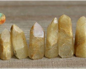 Rare Golden Rutilated Quartz Point, Rutilated Crystal Quartz ,Rutilated Golden Quartz Point, Rutilated Stand Up,Rutile in Quartz,Gold rutile