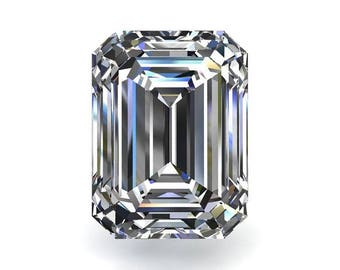 Loose Colorless Moissanite Emerald Cut - Celestial Premier Moissanite - Colorless