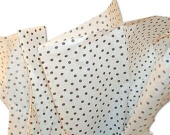 "Tissue Paper,Black Polka Dot  Gift Wrap Paper,  20"" x 30""  Tissue Paper, 10 sheets of  Tissue Paper , Made in USA, Vintage Look"