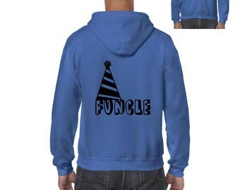 Funcle Fun Uncle Christmas Birthday Fathers Day Gift Match with Hats Jeans Shoes Full-Zip Men's Hoodie