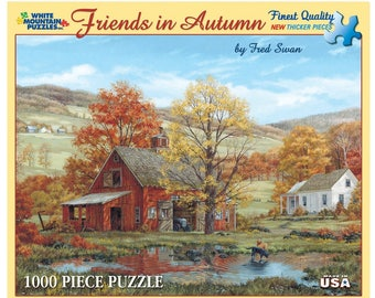 """Vintage Puzzle - Friends in Autumn - 1000 Piece Jigsaw Puzzle - GREAT GIFT - 24"""" x 30"""""""