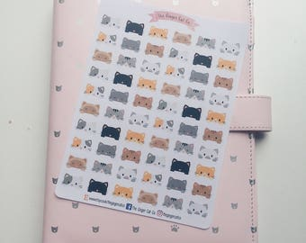 Peeking Cats Planner Stickers