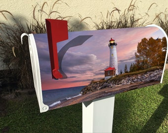 Michigan Lighthouse Magnetic Mailbox Cover