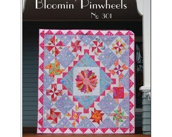 BLOOMIN Pinwheels block of the month quilt pattern from BLOOMIN workshop