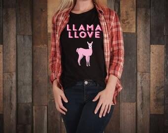 Llama, llamas, llama love, llama valentine, i llove you