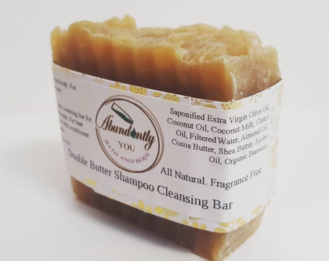Coconut Milk Shampoo Cleansing Bar   With Shea and Cocoa Butter   Natural Shampoo Bar   Sulfate Free   Paraben Free