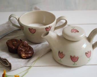 Ceramic cream and sugar, SET, cream and sugar set, kitchenware, housewarming gift, white , coffee lovers gift