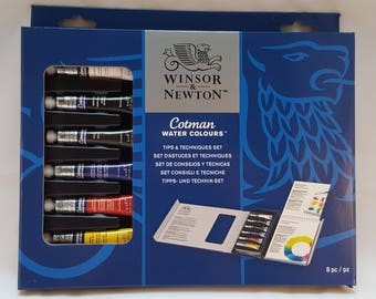 Winsor and Newton Watercolours  Set-Watercolours Tips and Tecniques Set- Cotman Watercolours Set -Watercolours paint- artist gift-