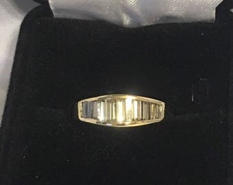 14k Baguette Diamond Ring
