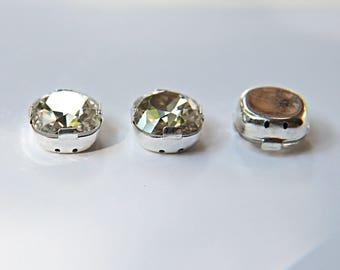 12mm, Swarovski 4470, Faceted Square Fancy Stone Crystal Silver Shade 2/12/36/72 Pieces