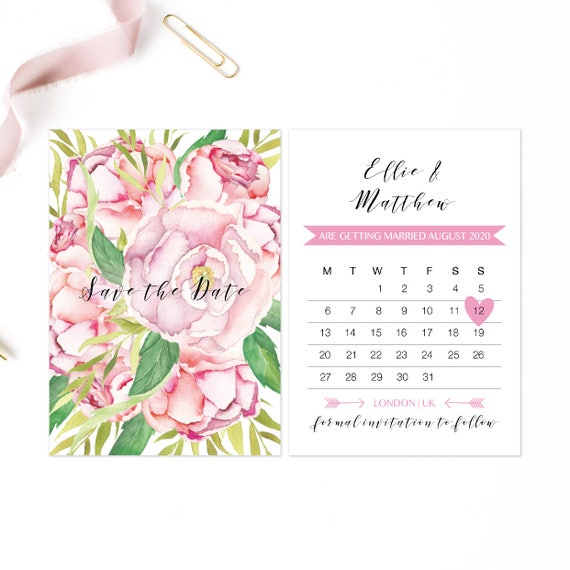 Rustic save the date cards, Boho save our date, Floral save the date cards, Bohemian save our date, Rustic wedding save the date cards, A6