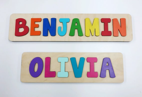 Name puzzle wooden name puzzle name puzzles for toddlers like this item negle Choice Image
