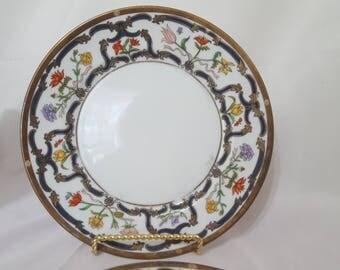 ON SALE, Christian Dior Plates, Dior Salad Plates, Dior Renaissance Plates, Antique Plates, Vintage Dior Plates, Christian Dior, Dior China