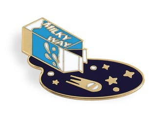 Milky Way Pin - Gold Plated Enamel Lapel Pin