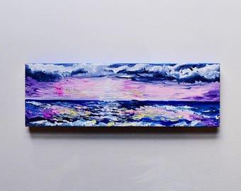 Sundance--Medium Ocean+Sunset Acrylic Painting