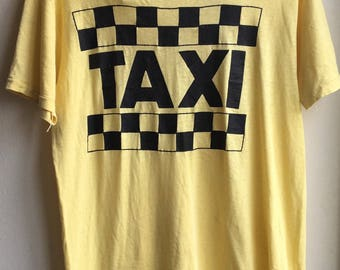 vintage taxi t - shirt 1970s original