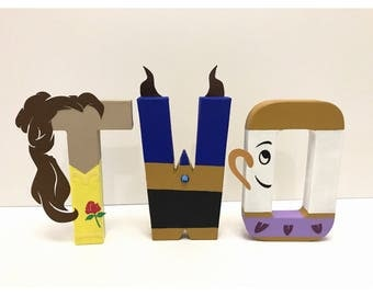 Beauty and the Beast TWO letters (Belle, Beast & Chip) | Beauty and the Beast