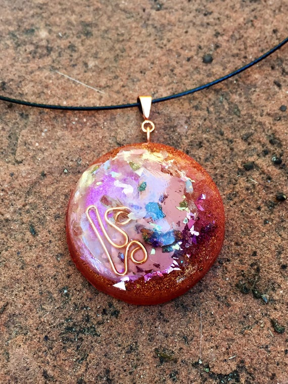 Himalayan Salt Orgonite® Pendant- Cosmic Creation Orgone Energy Generator necklace- Stress Relief & Grounding Cleansing Orgonite® Talisman