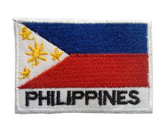 Patch/BOW-Philippines Flag-White-5 x 7.2 cm-by catch-the-Patch ® patch appliqué applications for ironing application patches patch