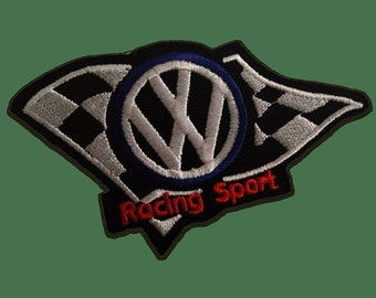 Patch/Ironing-Volkswagen Racing sport Logo-Black-10.5 x 6.0 cm-by catch-the-Patch ® patch appliqué applications for ironing application patches patch