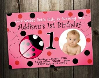 ladybug invitation birthday