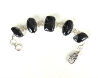 Black Botswana Agate Bracelet