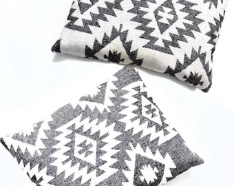 Ikat reversible pillow, decorative pillow, throw pillow, accent pillow