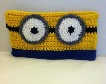 Minion Pencil Case, Minion Pencil Bag, Pencil Case, Pencil Pouch, Crochet Pencil Case, Pencil Holder, Back to School Supplies