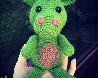 Crochet amigurumi dinosaur toy - Sergey