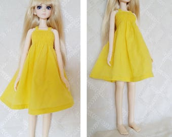 BJD, MSD, Doll outfit, Doll clothes, Doll dress. yellow doll dress, MSD yellow dress.