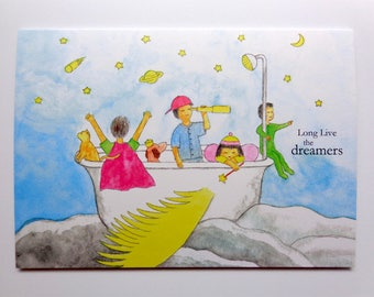 Magical Childhood Dreamers Card-Flying Bathtub Card-Long Live the Dreamers Card