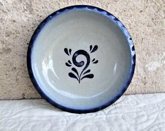 Vintage German Pottery, blue and gray pottery, Westerwald plates, German ceramics, German stoneware