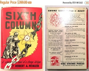SALE BUY NOW Sixth Column by Robert A. Heinlein - First Edition Gnome Press 1949 Hardcover with Dust Jacket - Science Fiction Novel, America