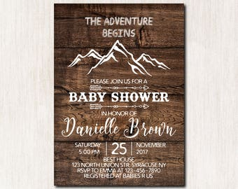 Printable Very Cute Baby Shower Invitations With Woodland